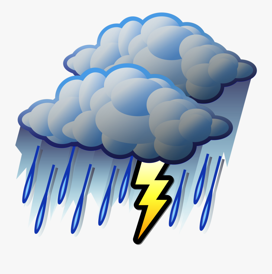 File - Stormy - Svg - Heavy Rain Clipart , Png Download - Raining Clouds Clipart, Transparent Clipart