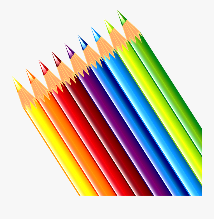 Banner Royalty Free Paper Pencil Clip Art Colorful - Pencil Colorful, Transparent Clipart