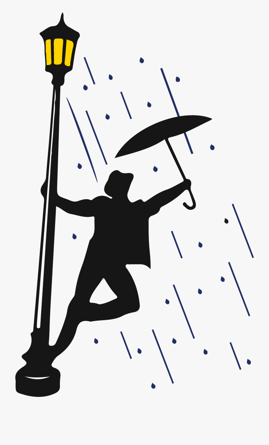 Sticker Singing In The Rain Clipart , Png Download - Singing In The Rain Title, Transparent Clipart