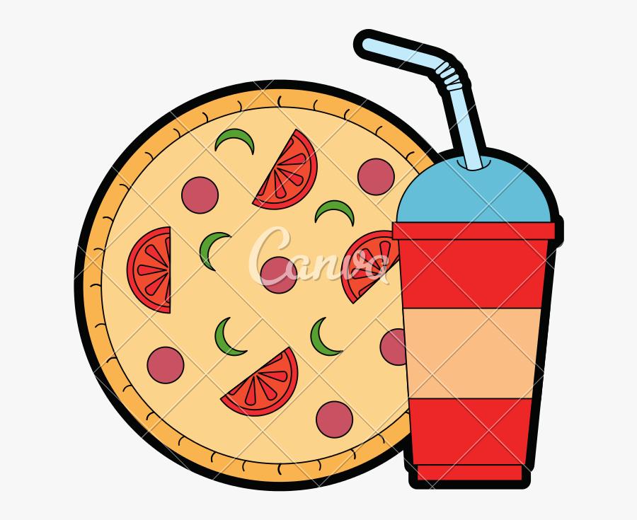 Pizza Clip Delicious - Pizza Y Soda Png, Transparent Clipart