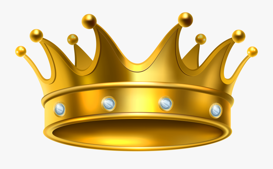 Crowns Clipart Cool Crown - Gold King Crown Png, Transparent Clipart