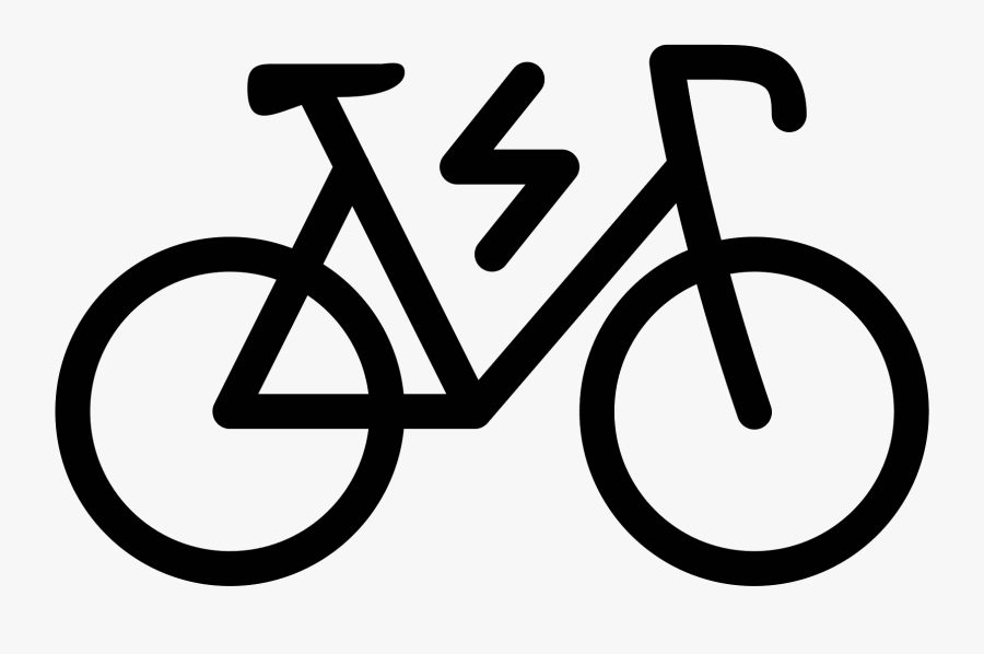 Bicycle Filled Icono Descarga - Electric Bike Icon Png, Transparent Clipart