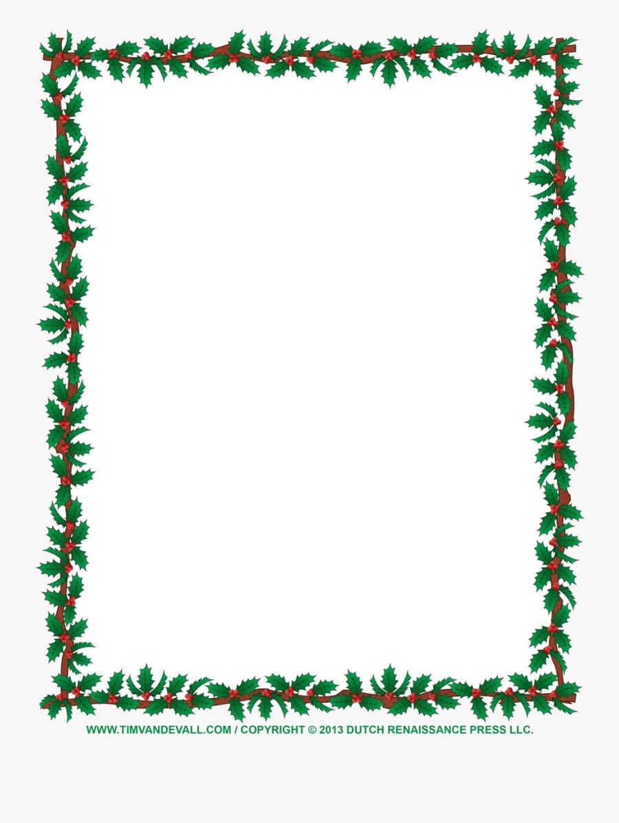 Christmas Border Clip Art Borders For Word Documents - Clip Art Christmas Border, Transparent Clipart