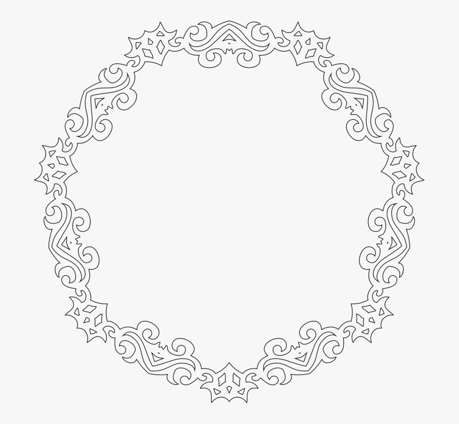 Line Art,monochrome,symmetry - Decorative Line Art Frame Design, Transparent Clipart