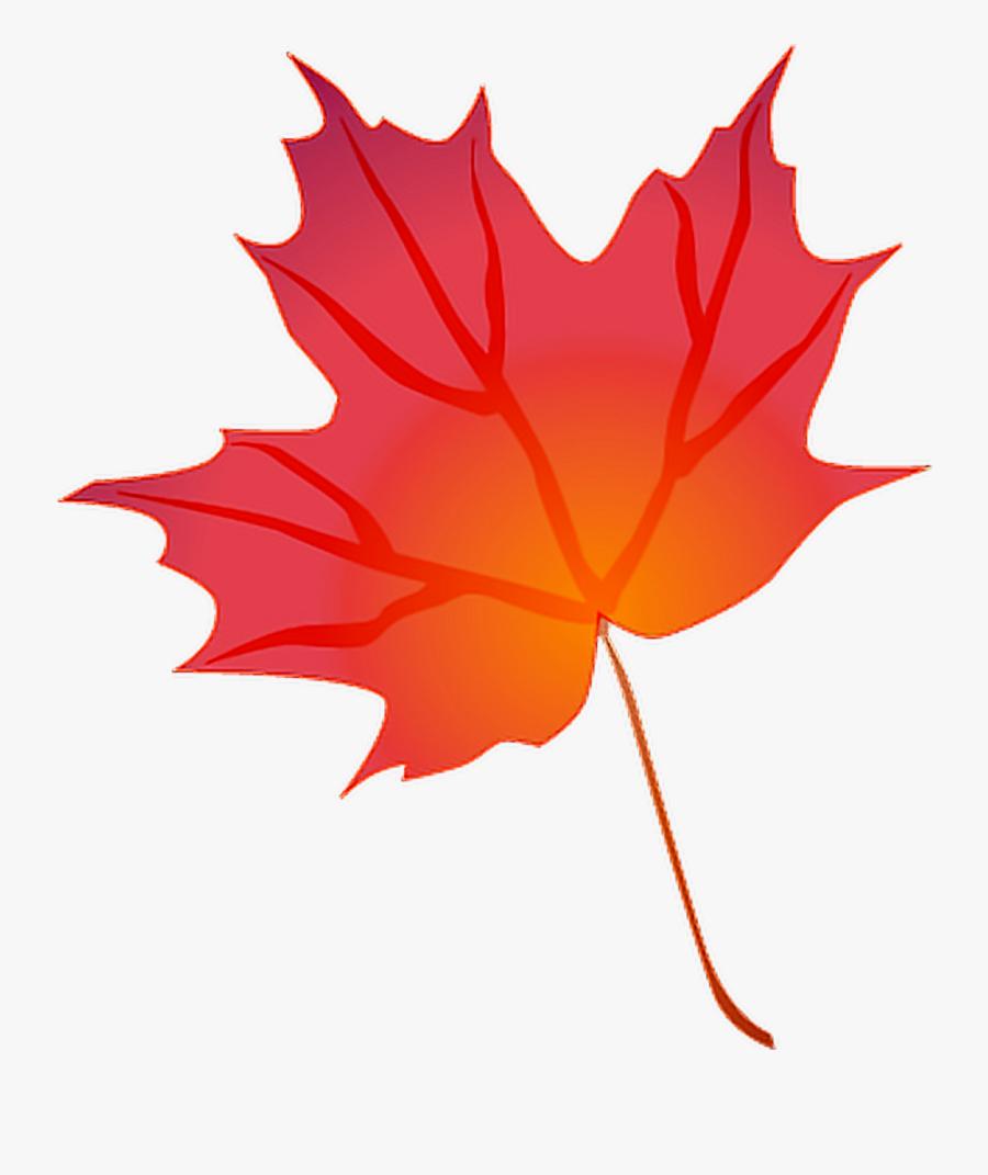 Autumn Fall Leaf Leaves Origfte Remixit Freetoedit - Transparent Background Autumn Leaf Clip Art, Transparent Clipart