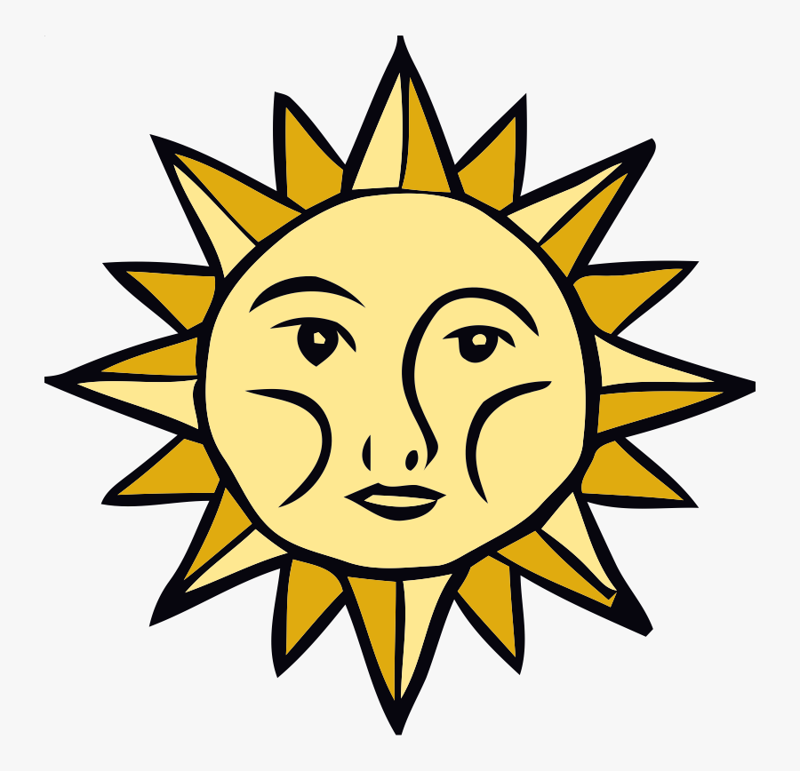 Sun Faces Clip Art - Federation Of Young European Greens, Transparent Clipart