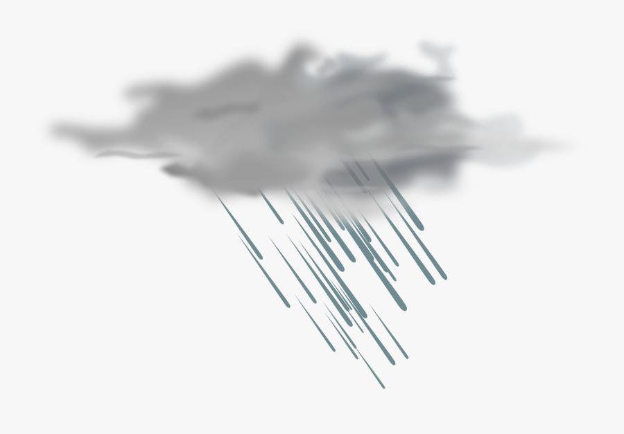 Weather Icon - Transparent Background Rain Cloud, Transparent Clipart