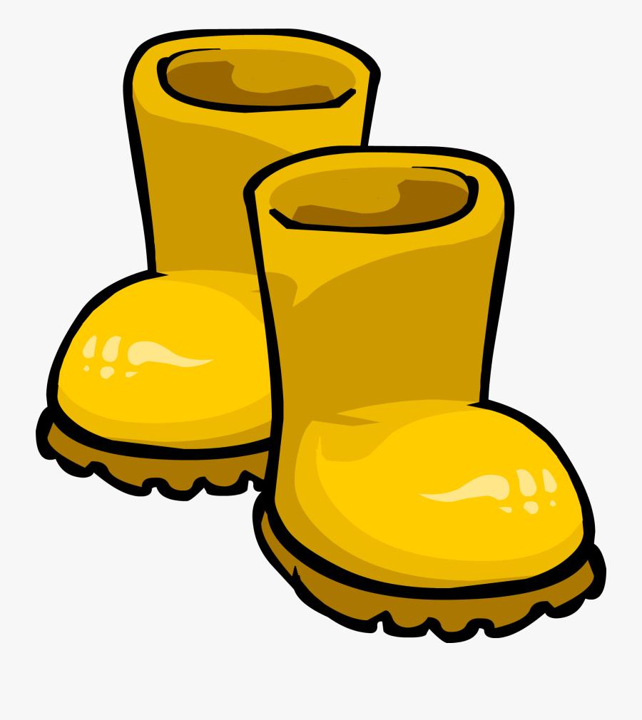 Rain Clipart Penguin - Transparent Rain Boots Clipart, Transparent Clipart