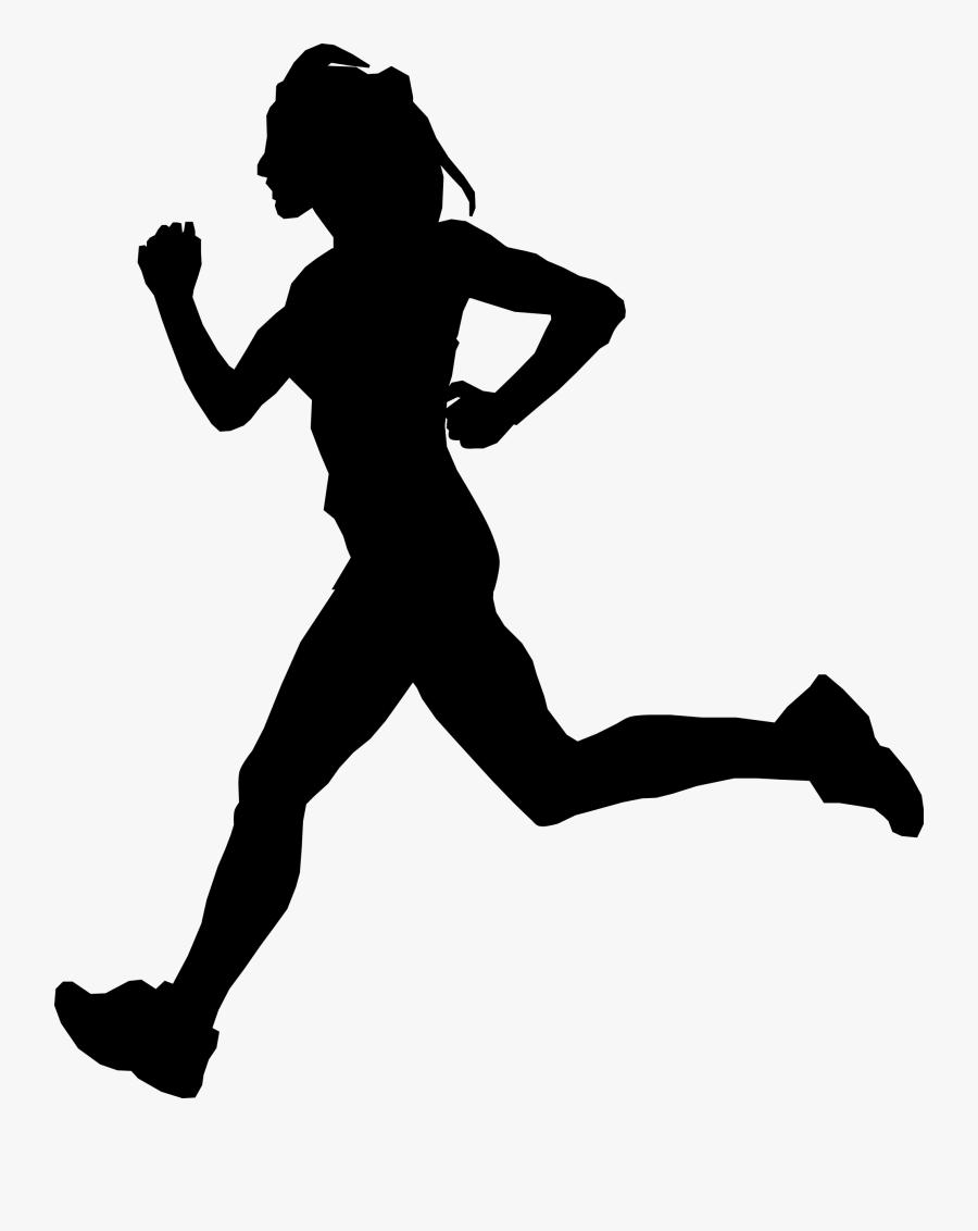 Clipart - Man Running Silhouette, Transparent Clipart