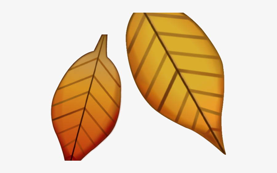 Fall Leaves Emoji Png, Transparent Clipart