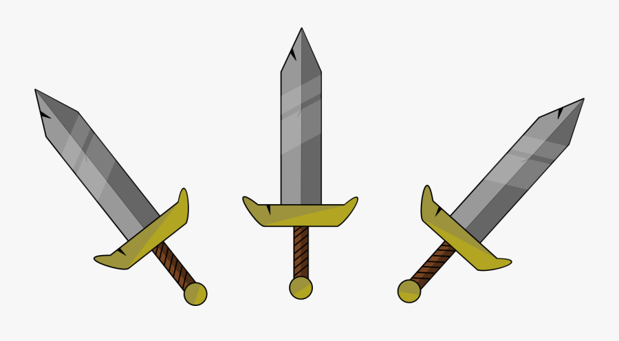 Transparent Broadsword Png - Sword 2d Art, Transparent Clipart