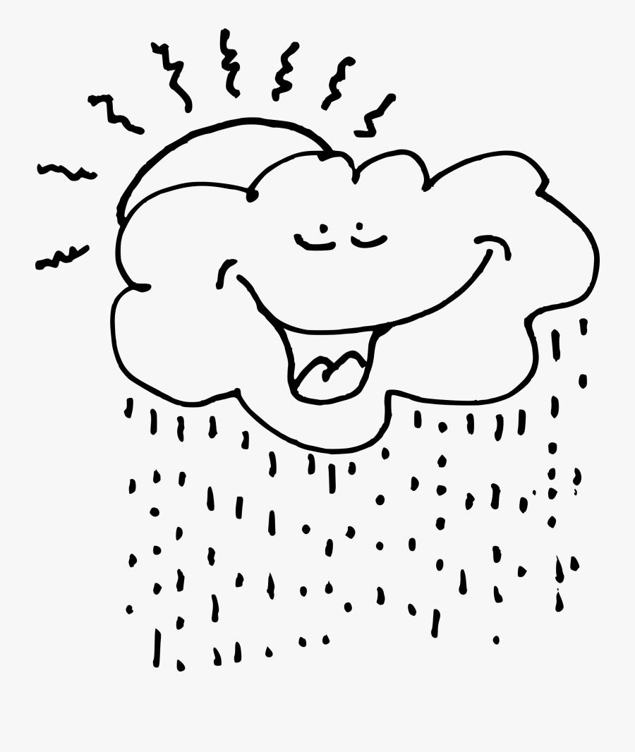 Sun Cloud Rain Clipart - Raining Clouds Clip Art, Transparent Clipart