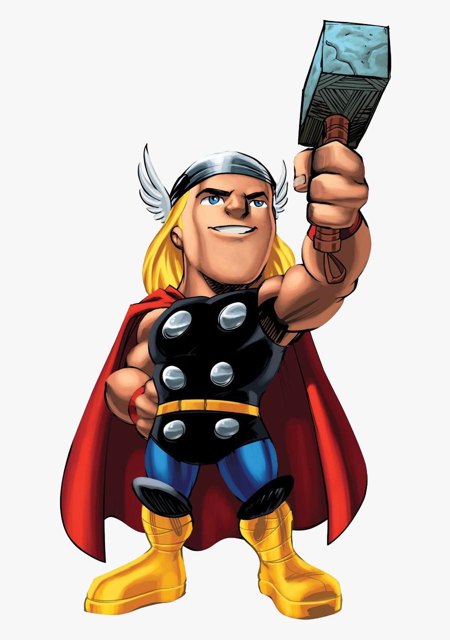 Marvel Superhero Clipart Png - Marvel Super Hero Squad Thor, Transparent Clipart