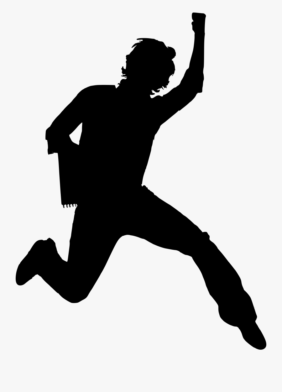Funny Man Oy Png Running - Happy Silhouette Clipart Png, Transparent Clipart