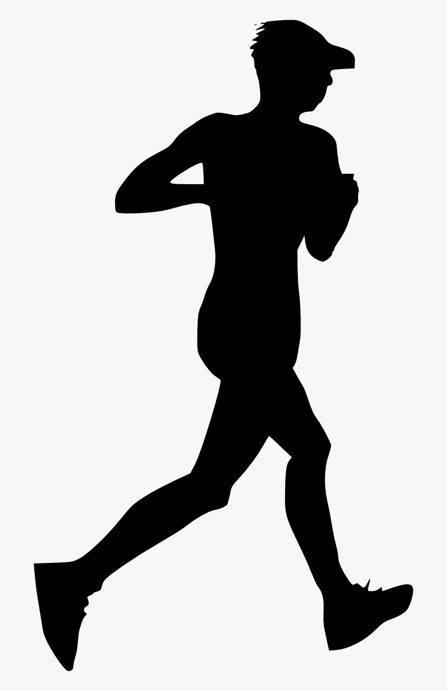 Silhouette Of People Running At Getdrawings - Person Running Silhouette Transparent, Transparent Clipart