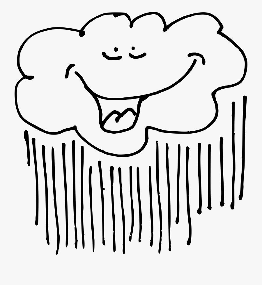 Clipart - Raining Clouds Clip Art, Transparent Clipart