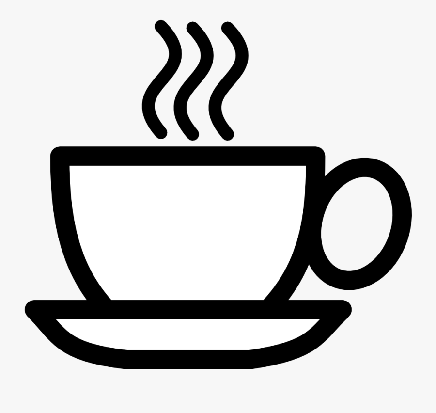 Coffee Image Black And White, Transparent Clipart