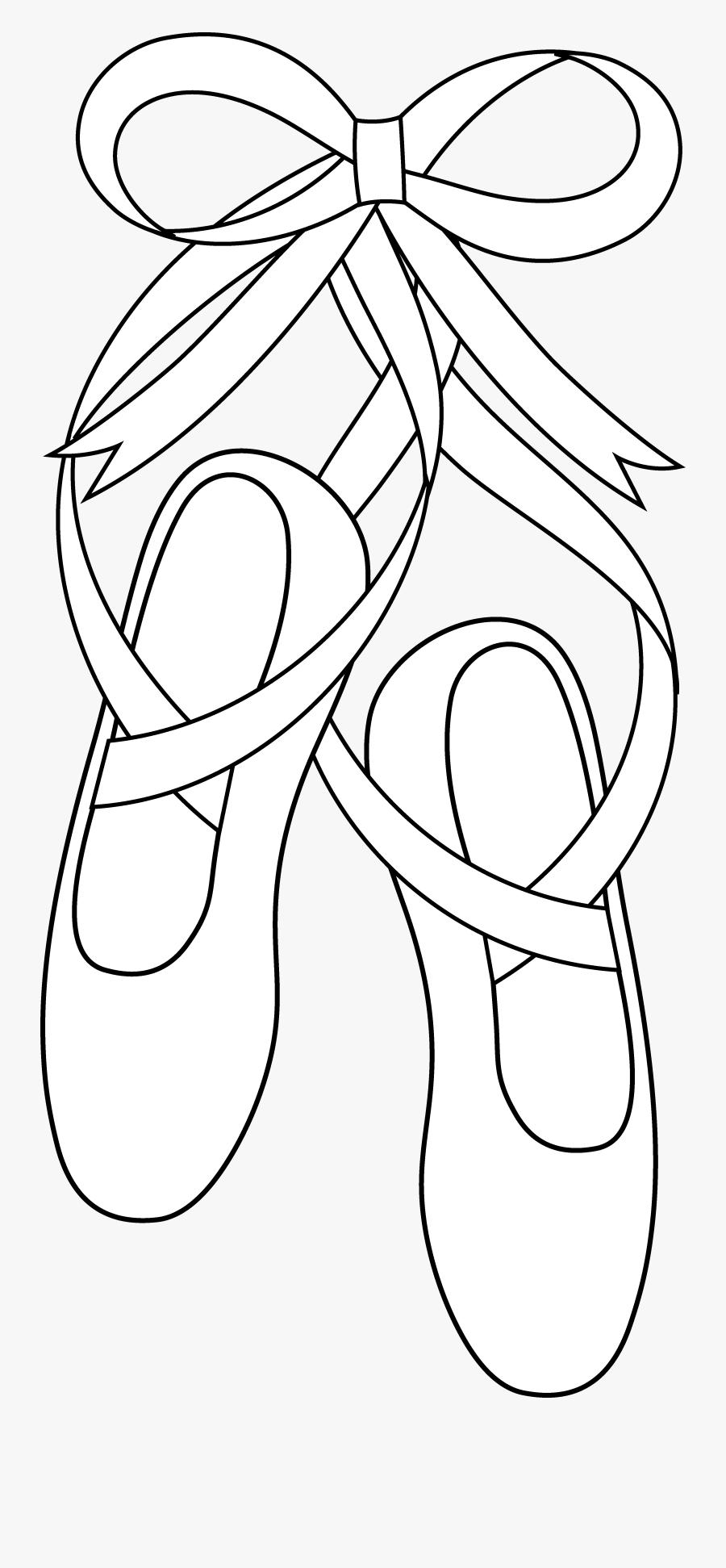 Draw Ballet Shoes, Transparent Clipart