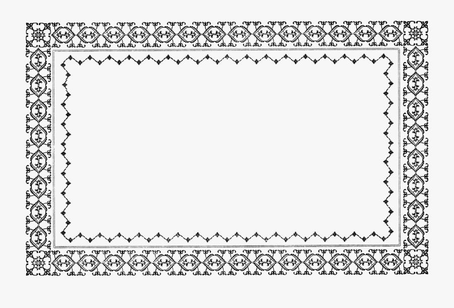 28 Collection Of Clipart Borders Vintage Png - Vintage Rectangle Border, Transparent Clipart