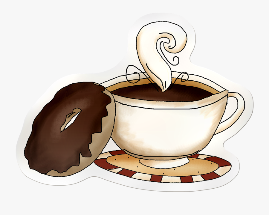 Coffee And Donuts Quotes, Transparent Clipart