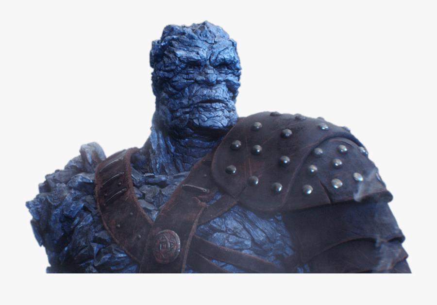 Korg Upper Body Thor - Thor Ragnarok Blue Rock Character, Transparent Clipart