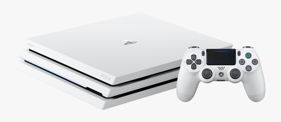 Sony Playstation 4 Pro 1tb White, Transparent Clipart