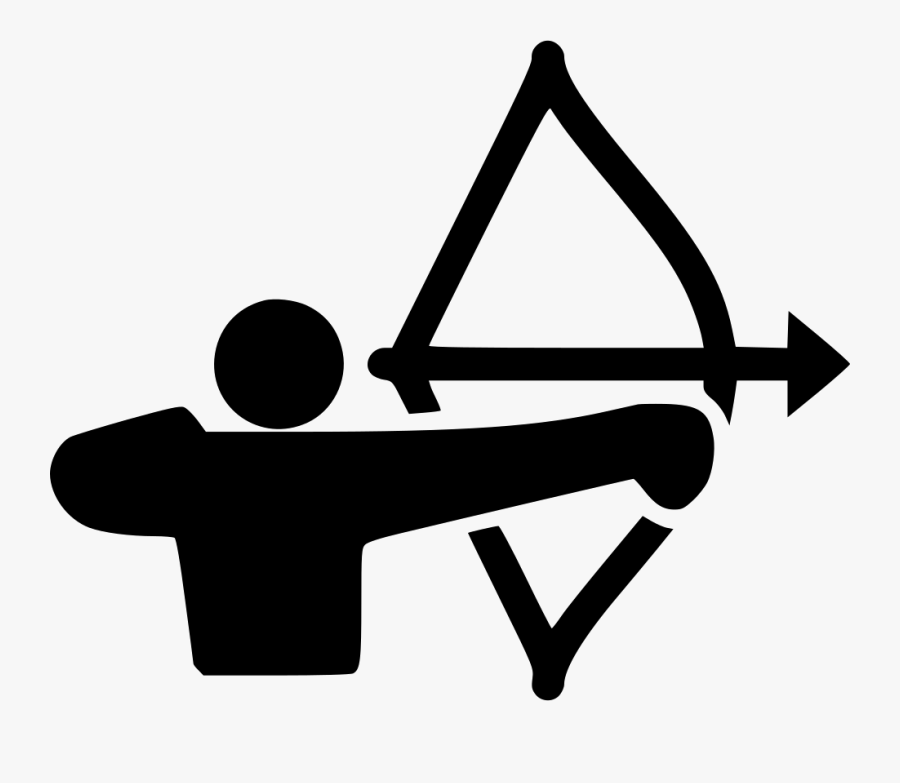 Clip Art Svg Png Free Download - Archery Icon Png, Transparent Clipart