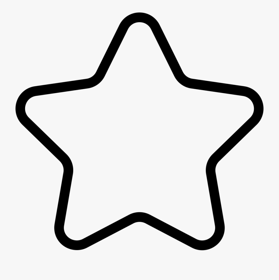 Star Outline Svg Icon Free Download Cliparts - Star Black And White Outline, Transparent Clipart