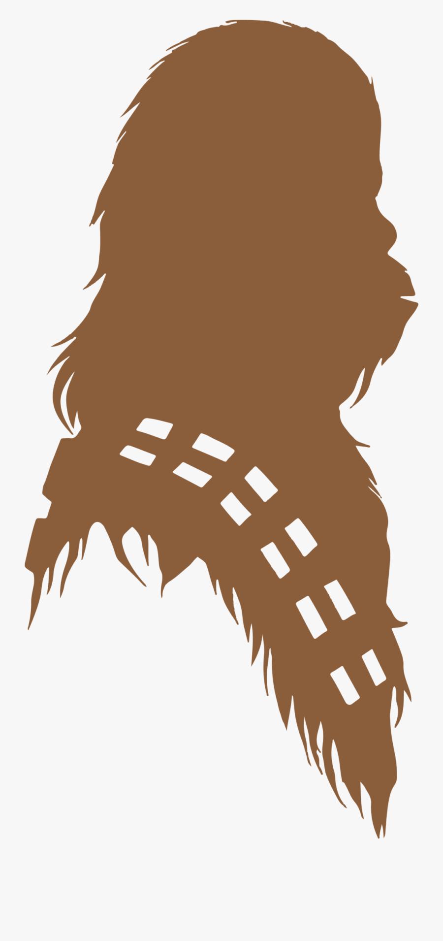 Chewbacca Silhouette - Star Wars Chewbacca Silhouette, Transparent Clipart