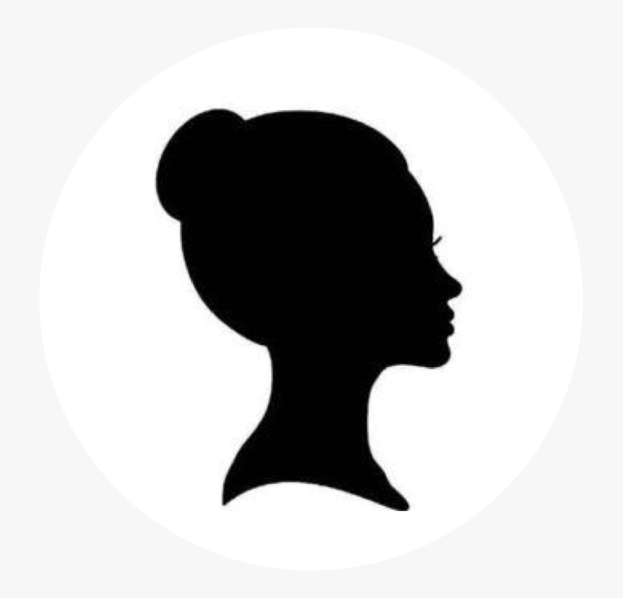 Woman Head Silhouette Outline Mydrlynx - Profile Woman Face Silhouette, Transparent Clipart