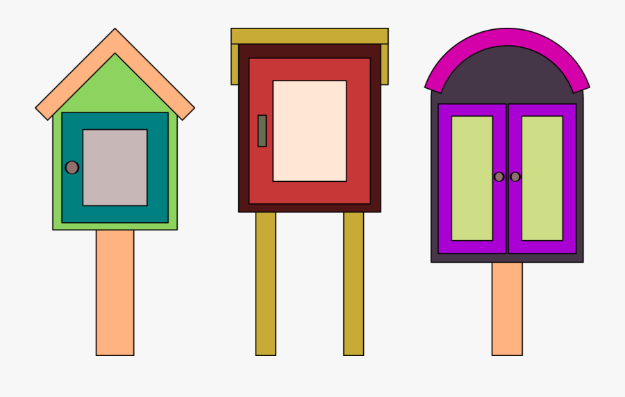 Transparent Open Clipart Library - Little Free Library Png, Transparent Clipart