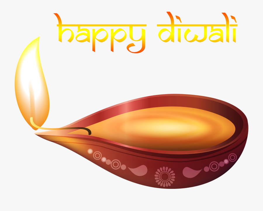 Beautiful Happy Diwali Candle Png Image - Happy Diwali Lamp Png, Transparent Clipart