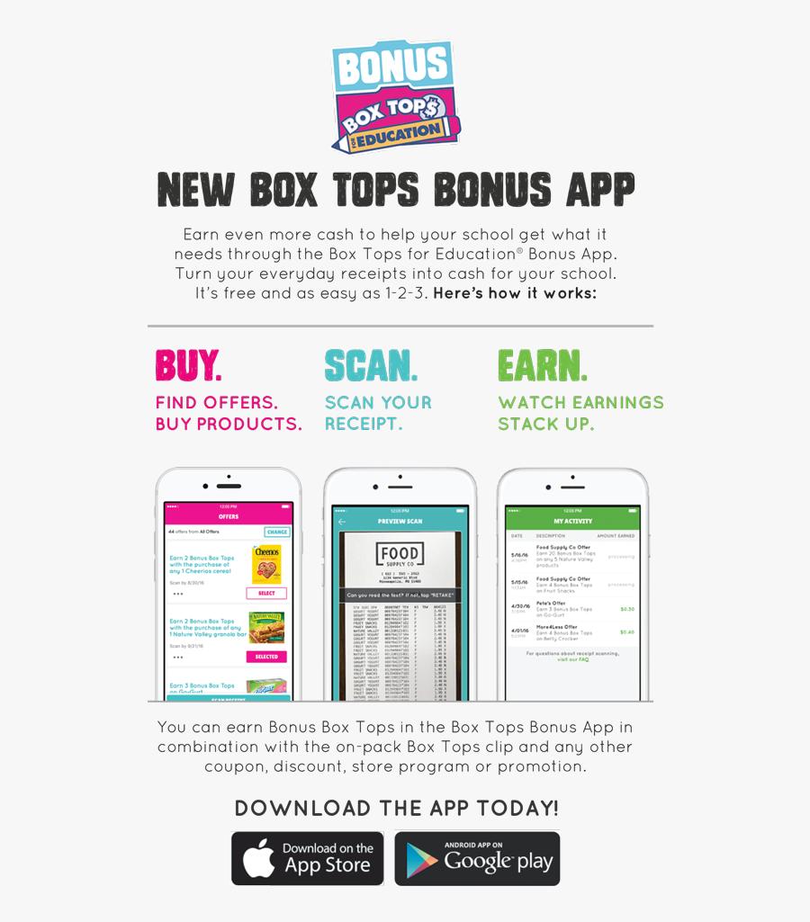 Bonus Box Tops - Box Tops For Education App Flyer, Transparent Clipart