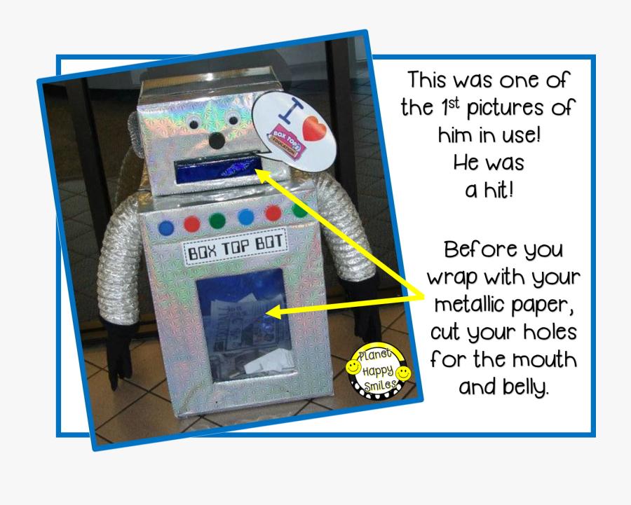 Box Top Robot ~ Planet Happy Smiles - Box Top Robot, Transparent Clipart
