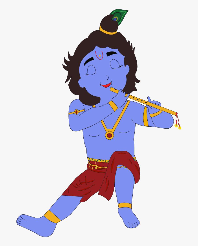 Krishna Clipart Kanha - Cartoon Clipart Krishna Png, Transparent Clipart