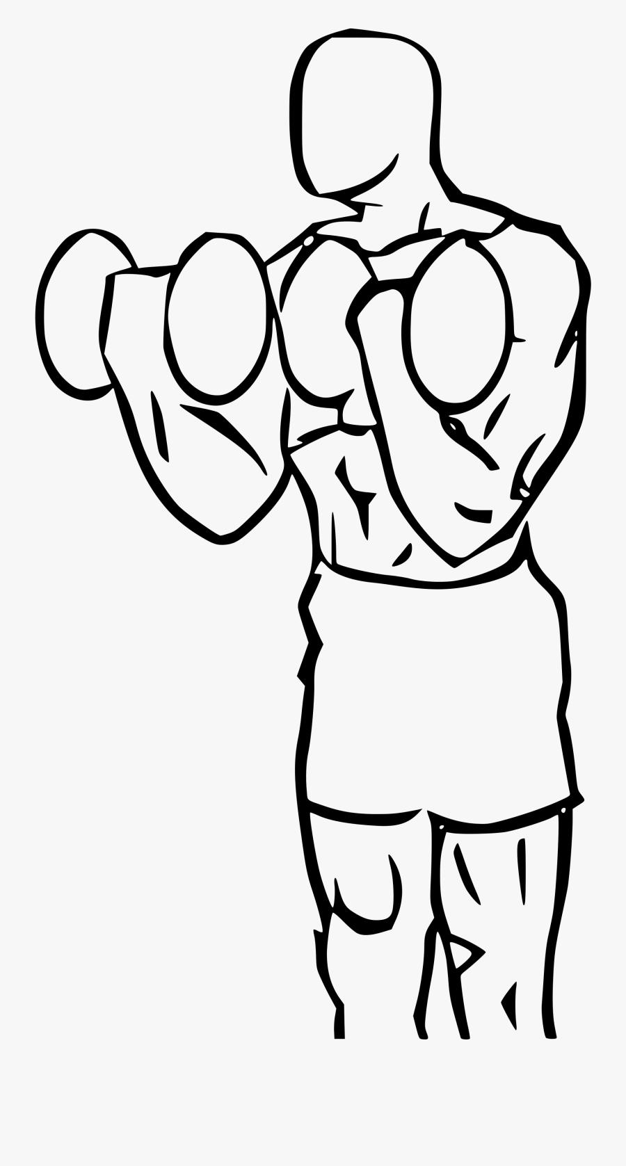 Biceps Drawing Cartoon Clip Art Royalty Free Download - Bicep Curl Squat Drawing, Transparent Clipart