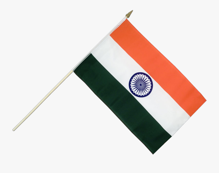 Indian Flag With Stick Png Hd Best Picture Of Imagesco - Small Flag Of India, Transparent Clipart