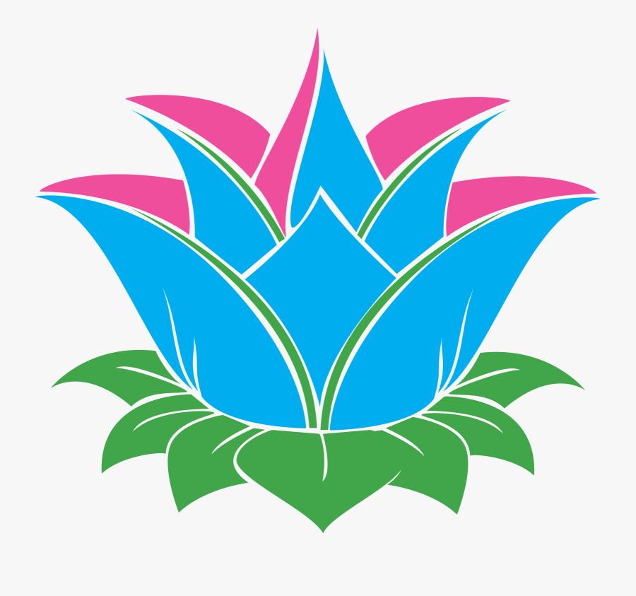 Flower Vector Outline Vector Lotus, Transparent Clipart