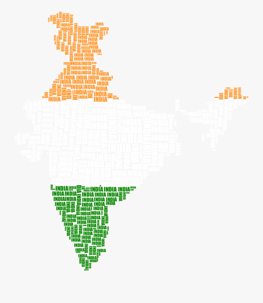 India Map Flag Png - Neighbouring Countries Of India In Map, Transparent Clipart