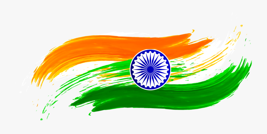 Background India Flag Png, Transparent Clipart