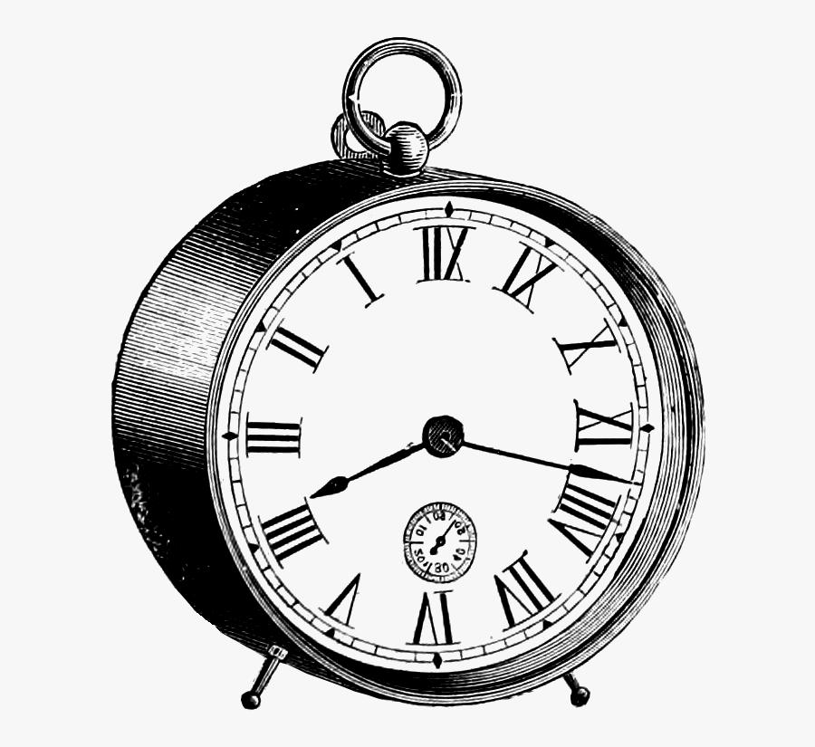 Clipart Of Vg, Ancient Clock And Antique Compass - Wall Clock, Transparent Clipart