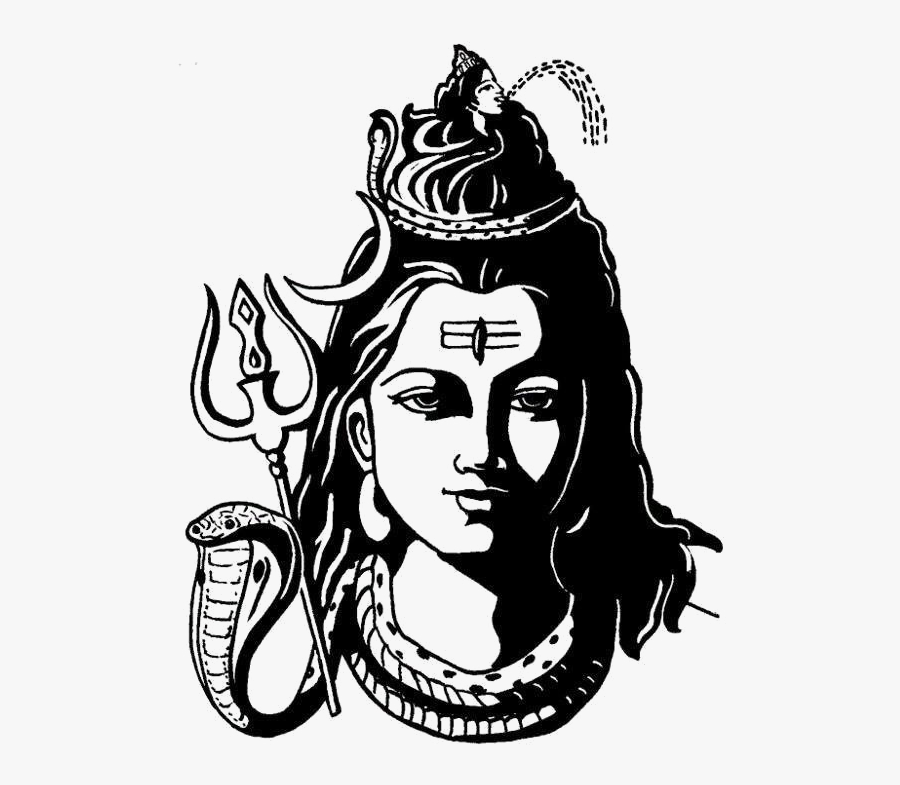 Transparent Shiva Png - Shiv Black And White, Transparent Clipart
