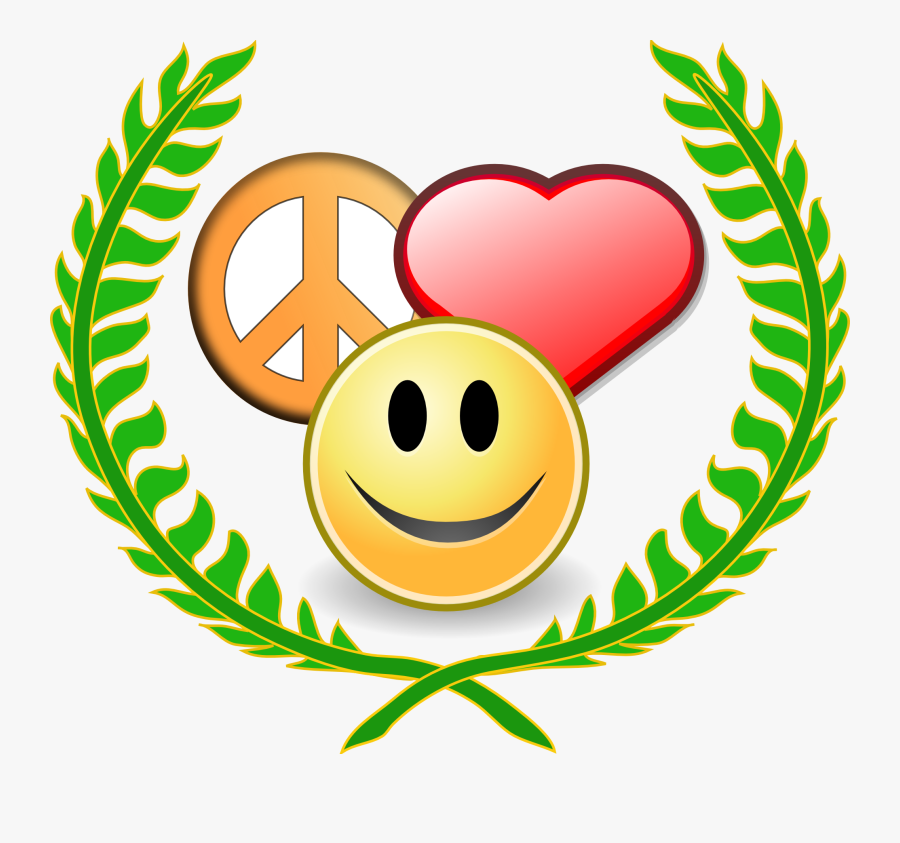 Peace Love And Happyness Award Black White Line Art - Symbol Of Love And Peace, Transparent Clipart