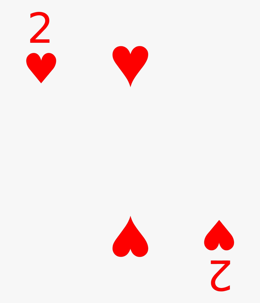 Playing Cards Heart Of Clipart Transparent Png - 2 Of Heart Playing Cards Png, Transparent Clipart