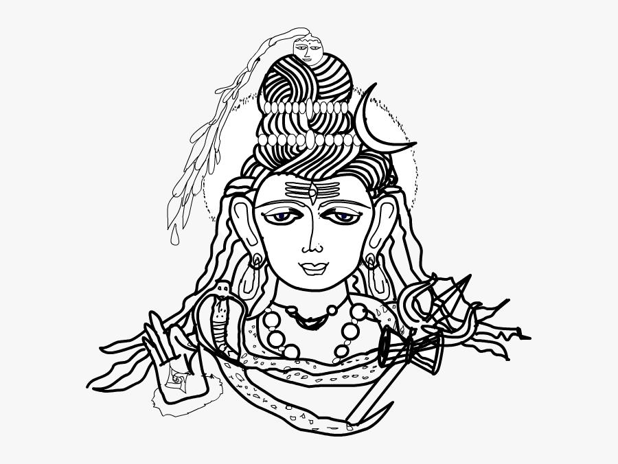 Shiva Drawing - Lord - Illustration - Illustration, Transparent Clipart