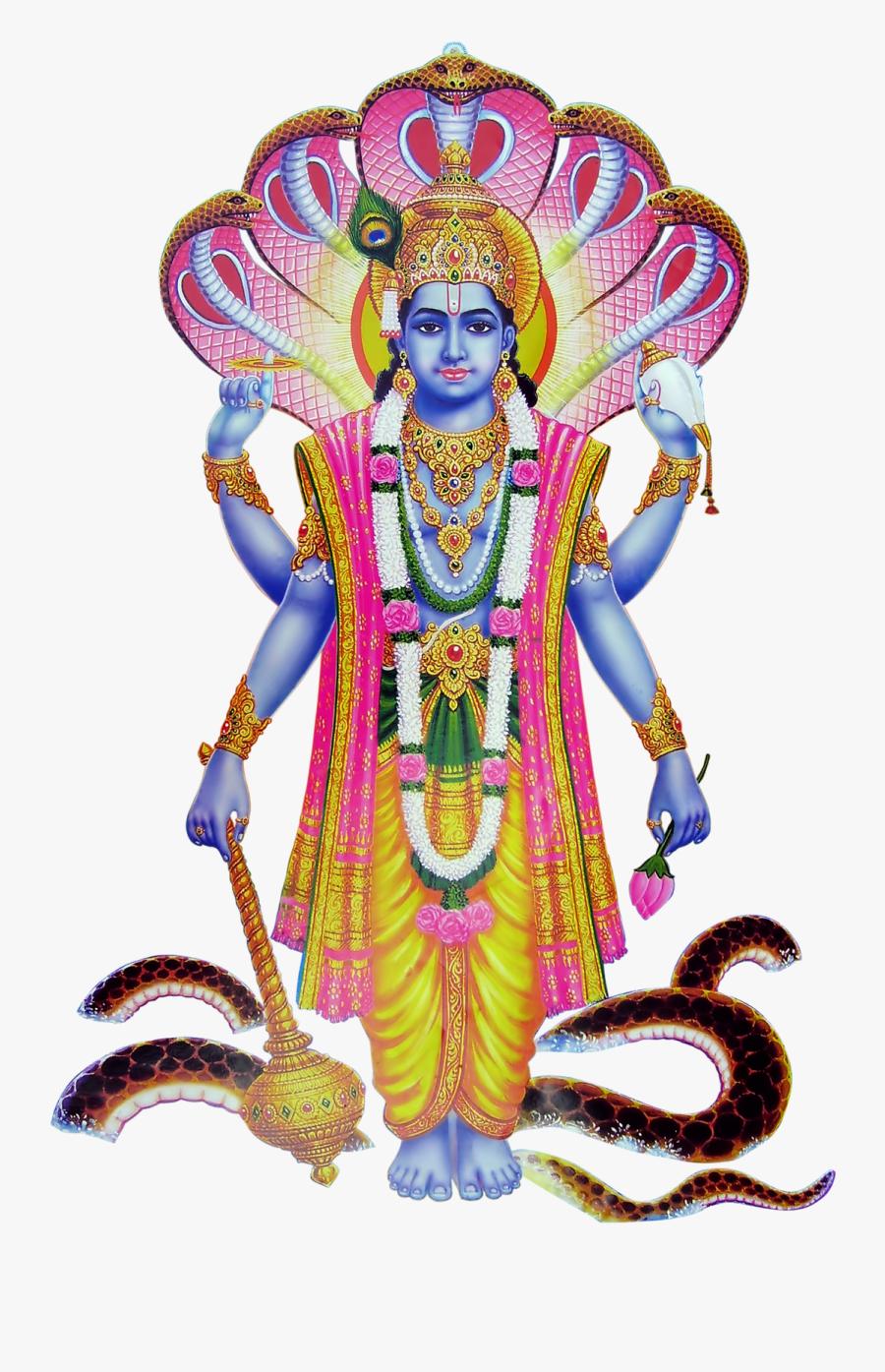 God Clipart Lord Venkateswara - God Of Vishnu Png, Transparent Clipart