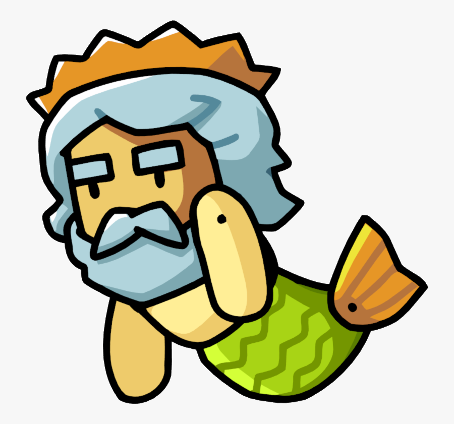 Cartoon Poseidon Greek God, Transparent Clipart