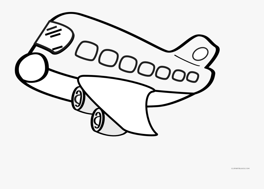 19 Airplane Picture Black And White Outline Huge Freebie