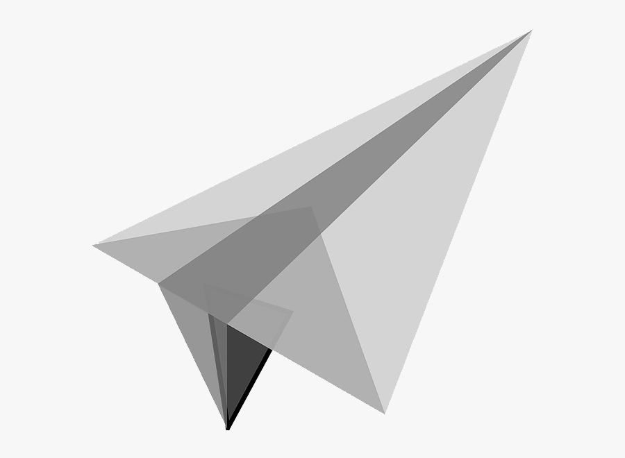 White Paper Plane Gray Paper Airplane Transparent Background