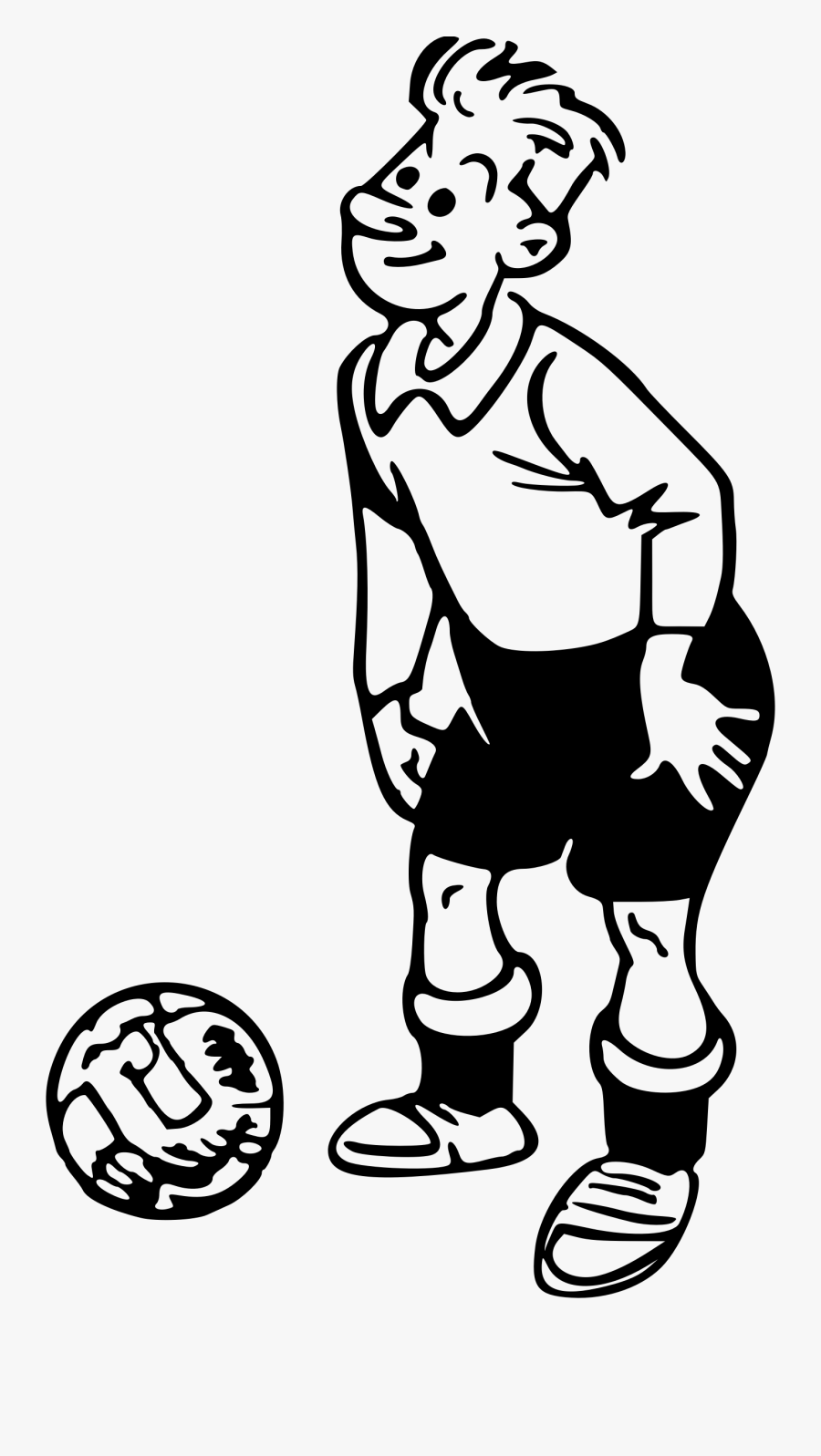 Clip Art Image - Drawings Of Sports Player, Transparent Clipart